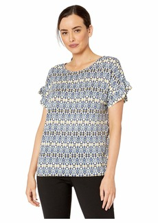 Jones New York Straight Body Top w/ Ruffle Sleeves
