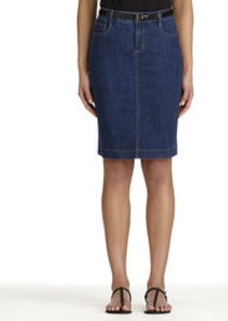 Jones New York Stretch Cotton Denim Skirt