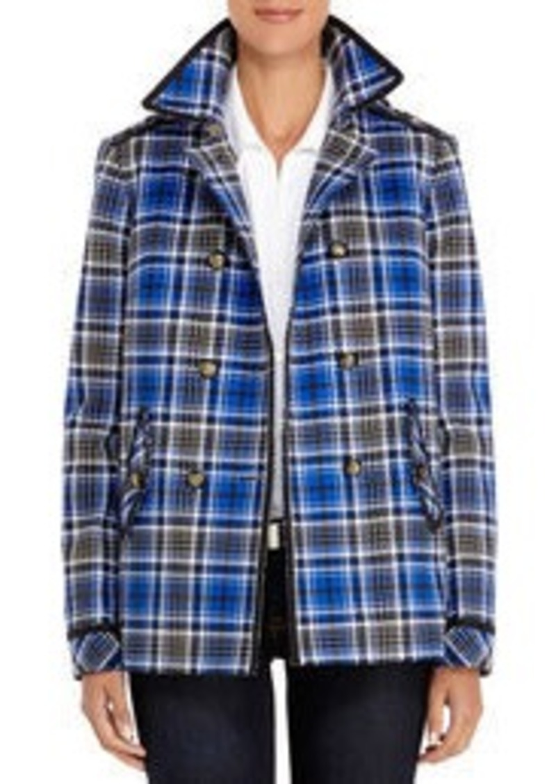 Jones New York Stretch Cotton Double-Breasted Jacket