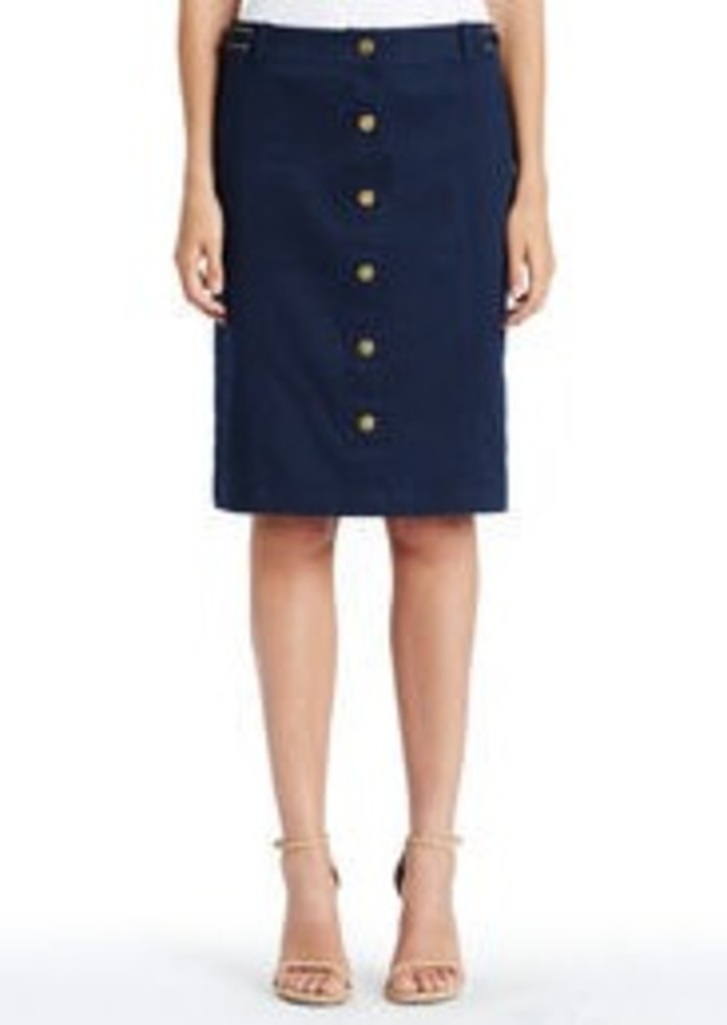 Jones New York Stretch Cotton Safari Skirt