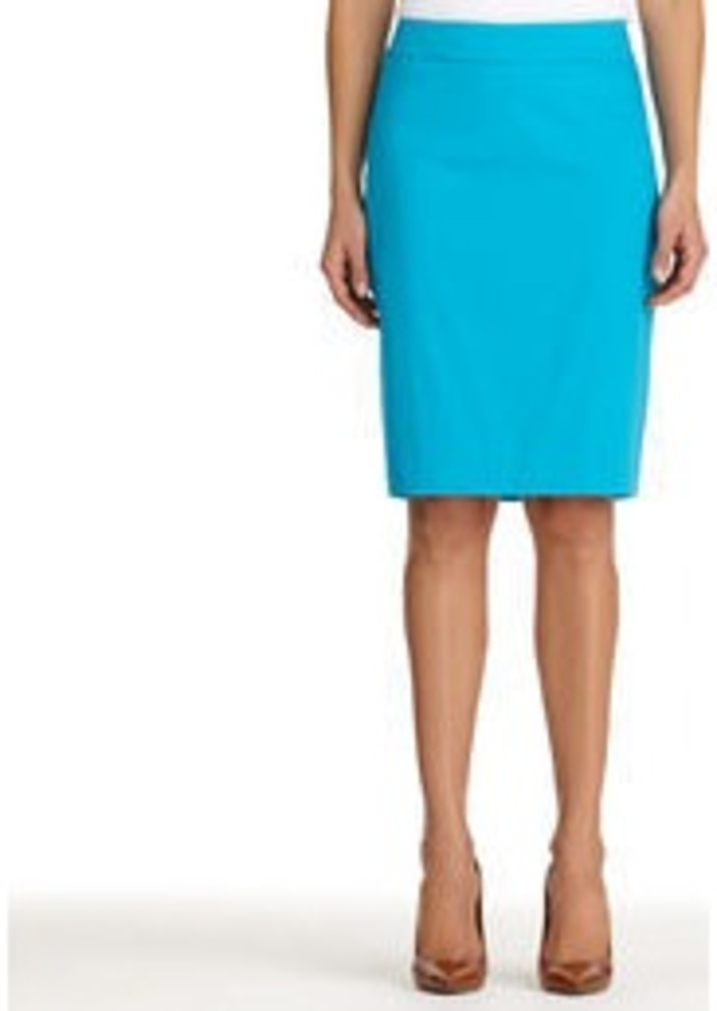 Jones New York The Lucy Stretch Cotton Sateen Pencil Skirt