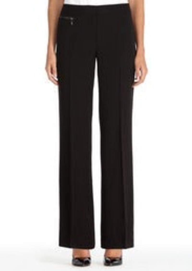 Jones New York Zoe Black Pants with Zip Detail