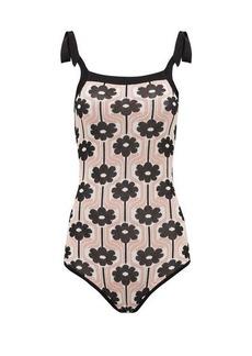 JoosTricot Lina shoulder-tie flower-jacquard bodysuit