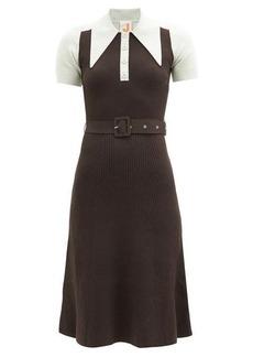 JoosTricot Oversized point-collar cotton-blend midi dress