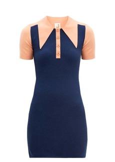 JoosTricot Oversized point-collar cotton-blend mini dress