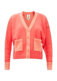 JoosTricot Patch-pocket cropped cotton-blend cardigan