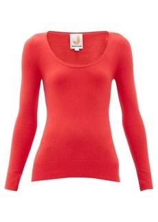 JoosTricot Peachskin scoop-neck cotton-blend sweater