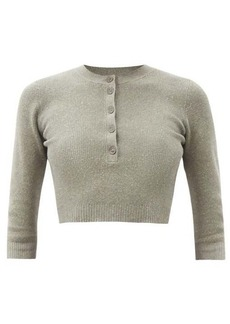 JoosTricot Ribbed cotton-blend cropped top