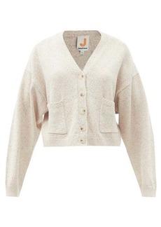 JoosTricot V-neck speckled cotton-blend cardigan