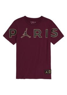 Boy's Jordan X Paris Saint-Germain Kids' Paris Logo Graphic Tee