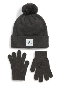 Jordan Air Heather Beanie & Gloves Set (Big Boys)