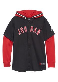 Jordan AJ1 Snap Hoodie (Big Boys)