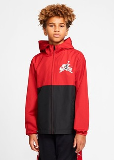 JORDAN Boys' Hooded Color Blocked Jumpman Jacket - Big Kid