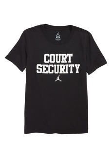 Jordan Court Security Graphic T-Shirt (Big Boys)