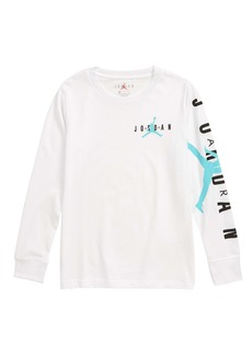 Jordan Dual Graphic Long Sleeve T-Shirt (Big Boys)
