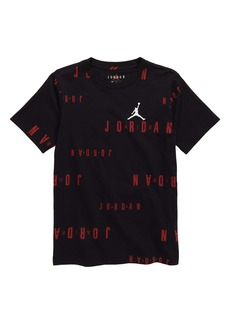 Jordan Floater Logo Graphic Cotton Tee (Big Boy)