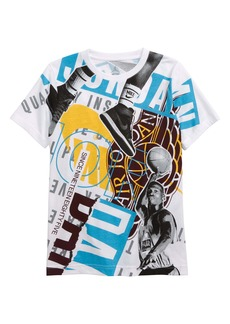 Jordan Front Page Flight Print T-Shirt (Big Boys)