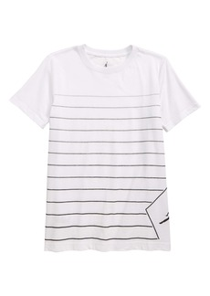 Jordan JSW Stripe Diamond Logo Graphic T-Shirt (Big Boys)