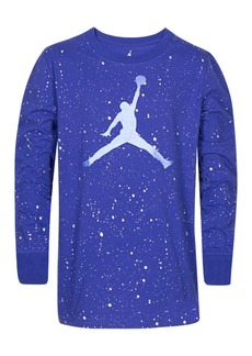 Jordan Little Boys Speckled Jumpman Graphic Cotton T-Shirt