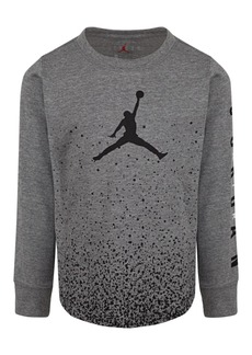 Jordan Little Boys Cotton Ombre Speckle T-Shirt