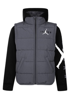 Jordan Toddler Boys Layered-Look Hooded Puffer Jacket