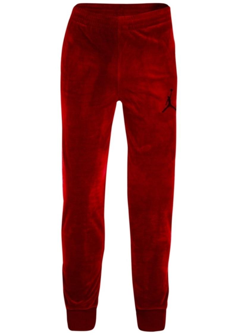 designer fashion 905c8 0bd7c Jordan Velour Jogger Pants, Big Boys