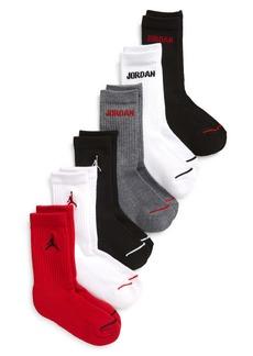 Nike Kids' 6-Pack Jordan Legend Assorted Crew Socks (Toddler, Little Boy & Big Boy)