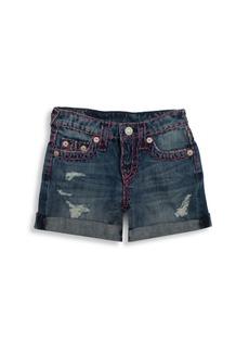 Jordan True Religion Toddler's, Little Girl's & Girl's Boyfriend Shorts