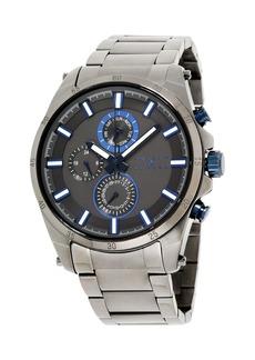 Joseph Abboud Men's Analog Gun Metal Stainless Steel Watch