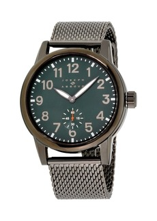 Joseph Abboud Men's Analog Gray Stainless Steel Bracelet Watch 28mm