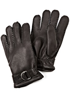 Joseph Abboud Men's Deer Skin Glove with Adjustable Strap