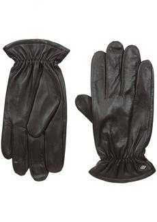 Joseph Abboud Men's Fine Leather Gloves with Melange Fleece Lined Interior