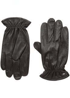 Joseph Abboud Men's Fine Leather Gloves with Melange Fleece Lined Interior