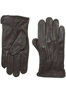 Joseph Abboud Men's Supple Deerskin Gloves with Melange Fleece Lining