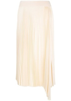 Joseph asymmetric pleated skirt