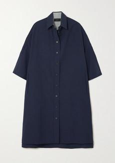 Joseph Baker Striped Cotton And Linen-blend Midi Dress
