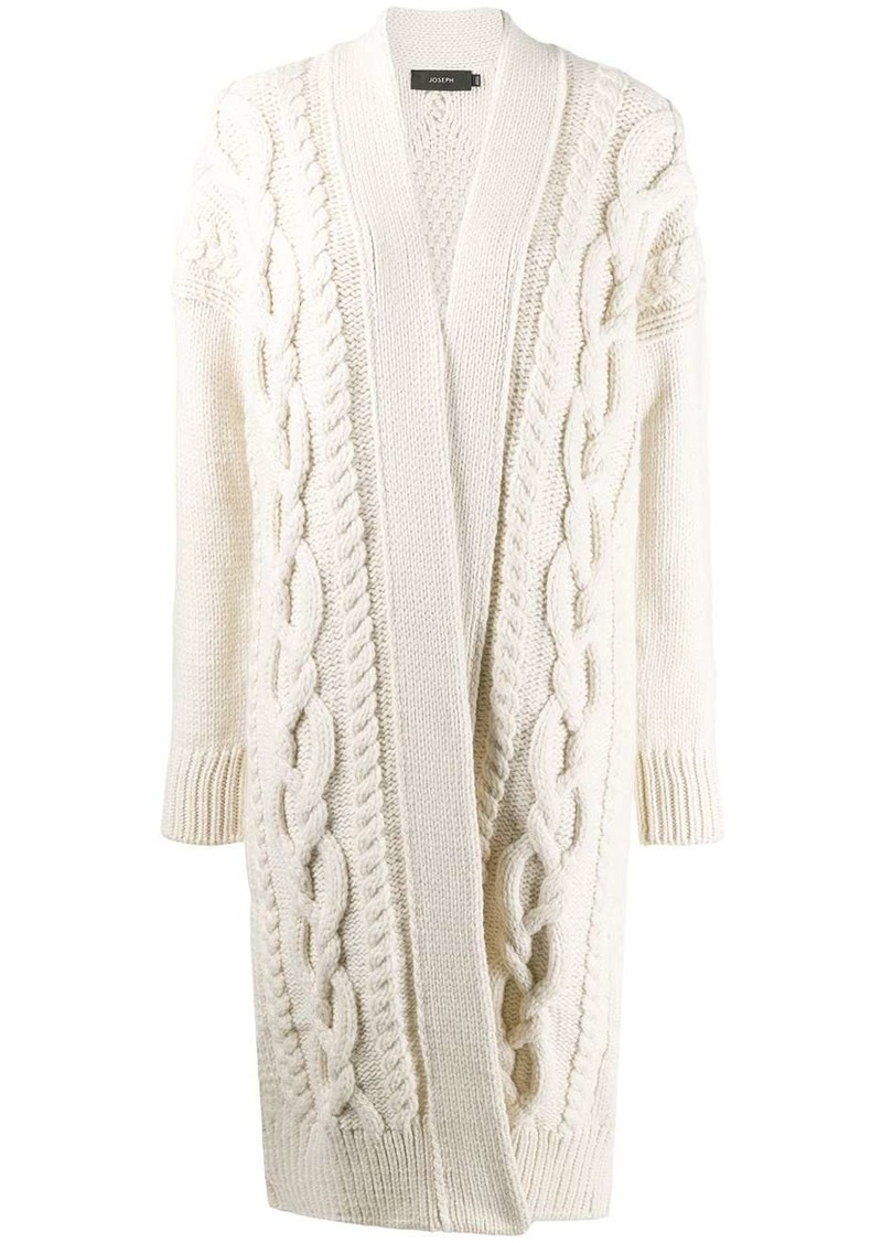 Joseph cable knit cardi-coat