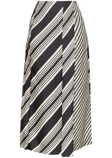 Joseph Carey diagonal stripe skirt