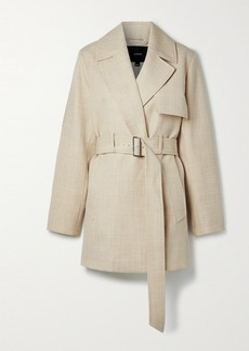Joseph Chasy Belted Wool-twill Coat