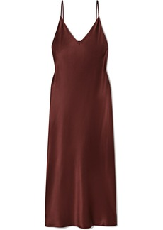 Joseph Clea Silk-satin Midi Dress