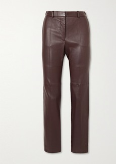 Joseph Coleman Leather Slim-leg Pants