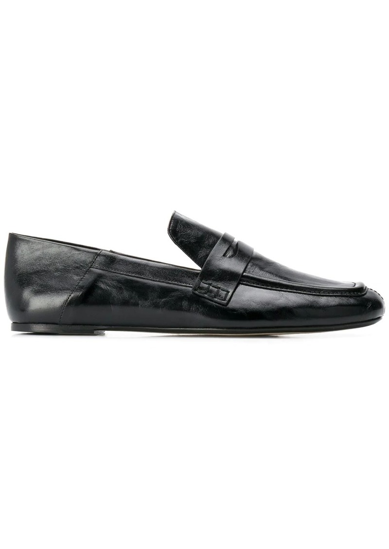 Joseph crinkle-effect penny loafers