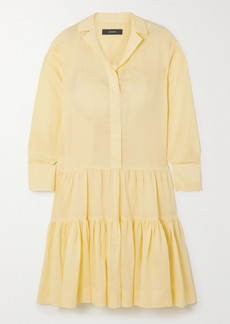 Joseph Dan Tiered Ramie Midi Shirt Dress
