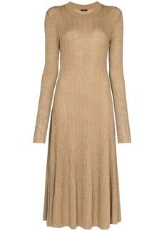 Joseph Diva lurex-knit midi dress