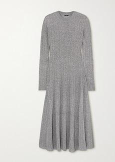 Joseph Diva Ribbed Lurex Midi Dress