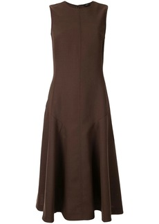 Joseph flared drop-waist midi dress