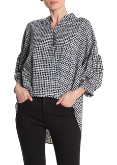 Joseph Geometric 3/4 Sleeve High/Low Top