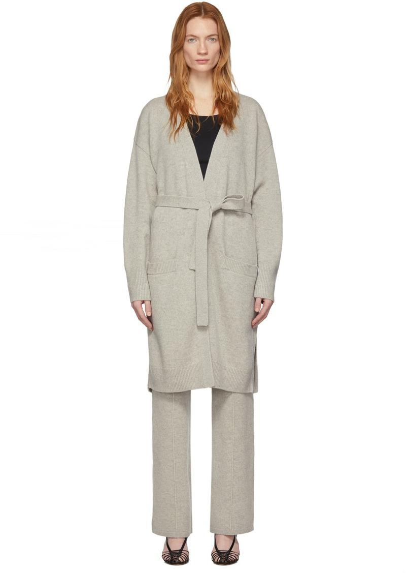Joseph Grey Soft Wool Long Cardigan
