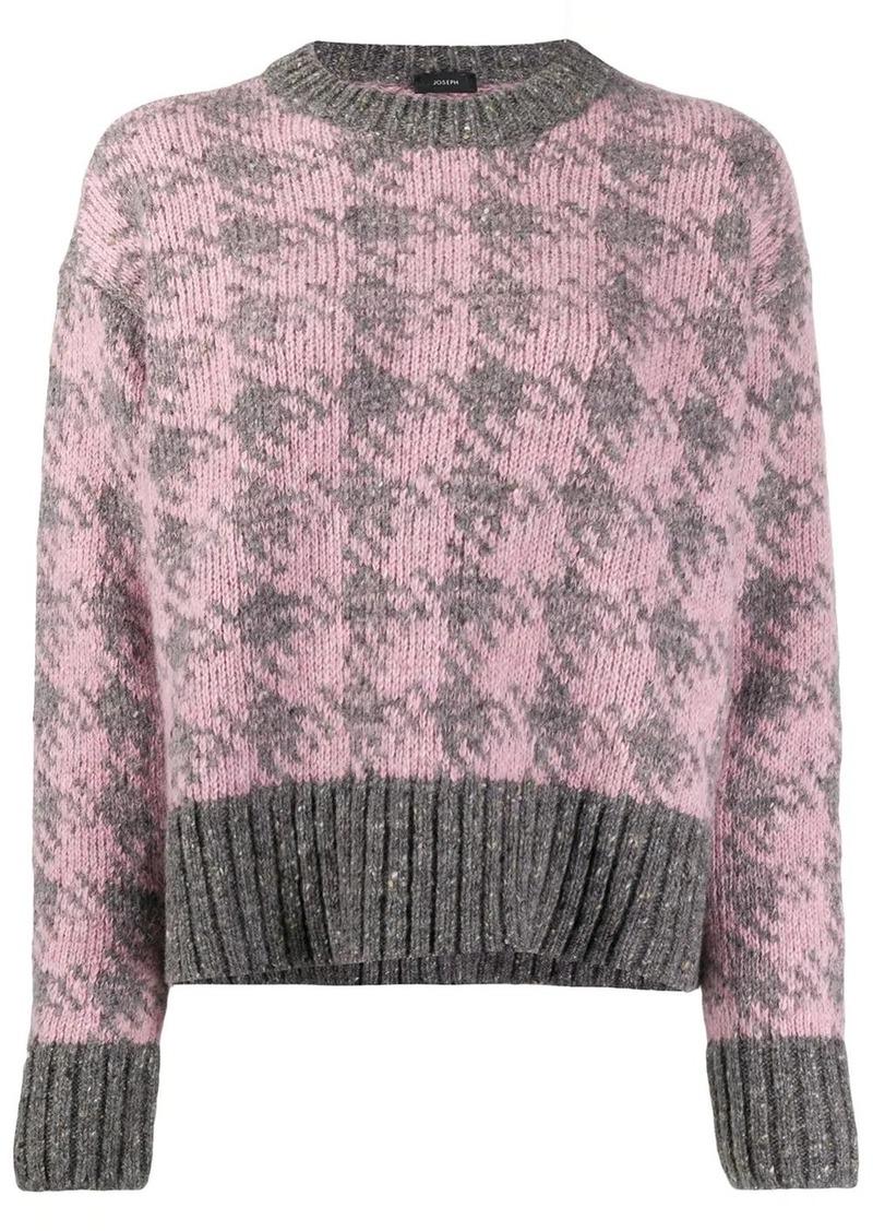Joseph Houndstooth knit jumper