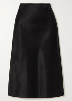 Joseph Isaak Silk-satin Midi Skirt